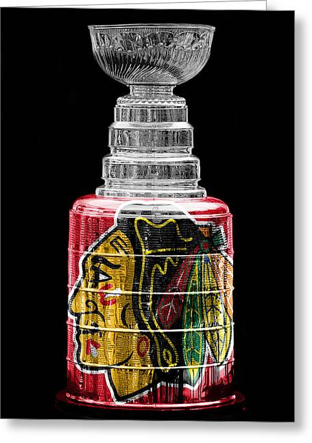 Hockey Greeting Cards - Stanley Cup 6 Greeting Card by Andrew Fare