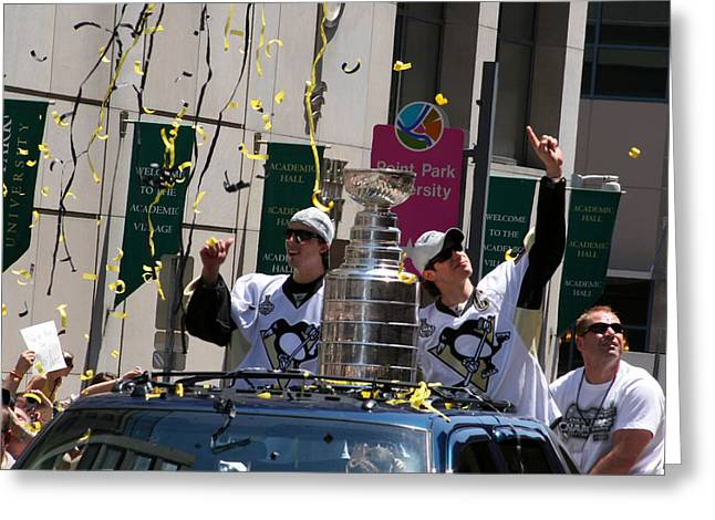 Sidney Crosby Greeting Cards - Stanley Cup Greeting Card by Sandy Fraser
