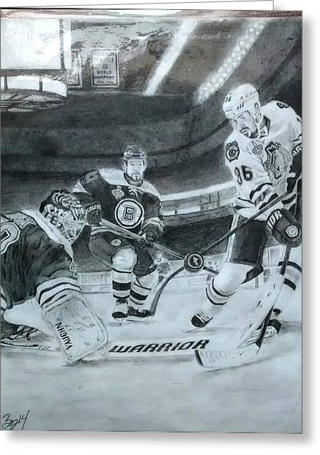 Game 6 Greeting Cards - Stanley Cup Winner Greeting Card by Ezra Strayer