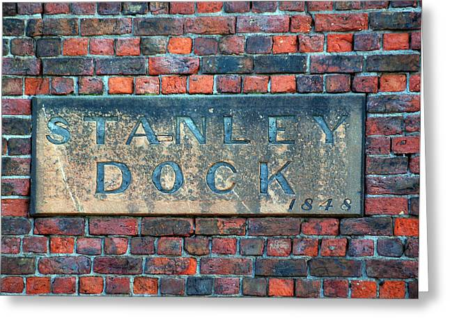 Stanley Dock Greeting Card by Susan Tinsley