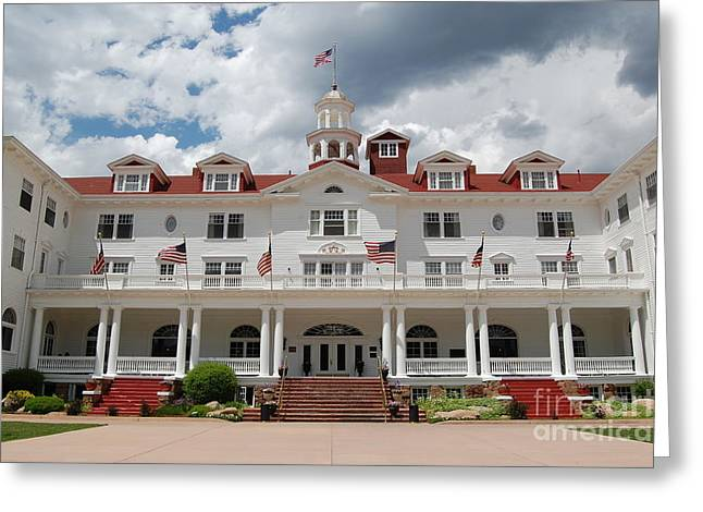 Colorado Photographs Greeting Cards - Stanley Hotel Estes Park Colorado inspiration for Stephen Kings The Shining Greeting Card by Shawn O