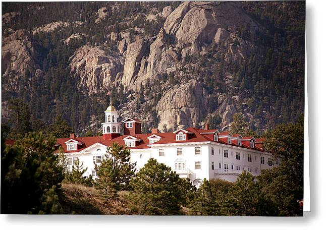 Estes Park Greeting Cards - Stanley Hotel Estes Park Greeting Card by Marilyn Hunt