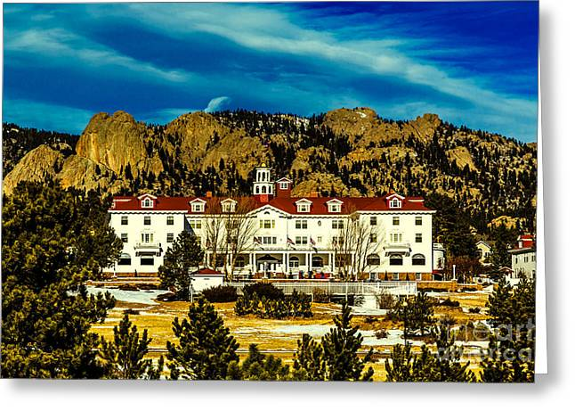 Jon Burch Photography Greeting Cards - Stanley Hotel Greeting Card by Jon Burch Photography