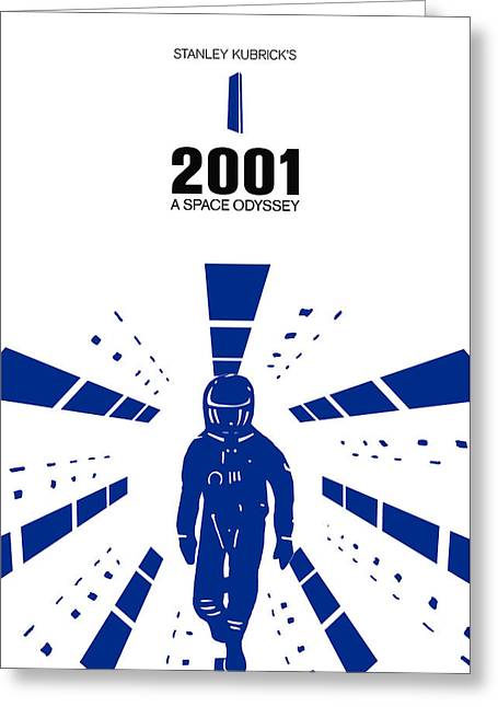 Stanley Kubrick 2001 A Space Odyssey Movie Poster Greeting Card by Kevin Trow