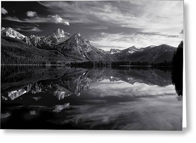 Most Greeting Cards - Stanley Lake Greeting Card by Leland D Howard