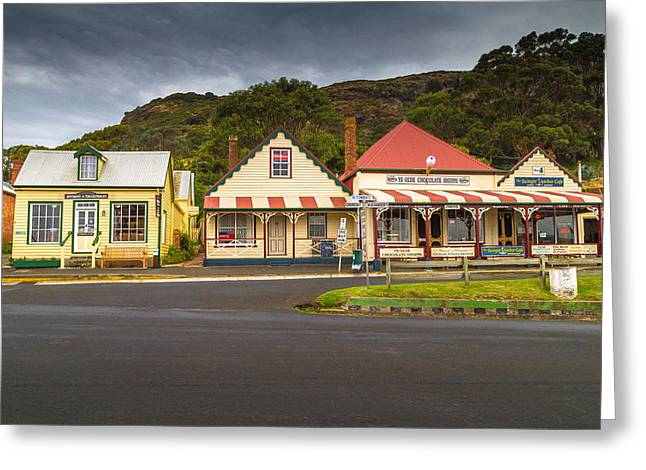 Stanley Street Greeting Cards - Stanley Street Scene Greeting Card by Keith Hawley