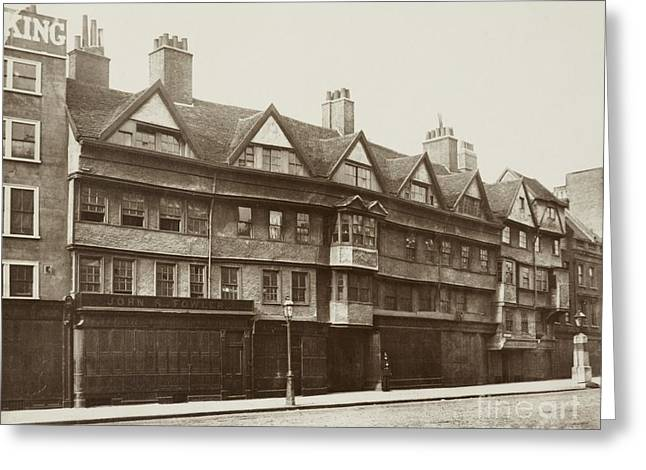 Old Inns Photographs Greeting Cards - Staple Inn, Holborn, London, 1870s Greeting Card by British Library