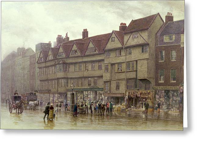 Drizzle Greeting Cards - Staple Inn  Holborn Greeting Card by Philip Norman