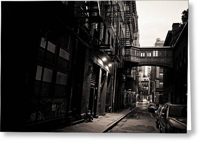 New York City Fire Escapes Greeting Cards - Staple Street - Tribeca - New York City Greeting Card by Vivienne Gucwa