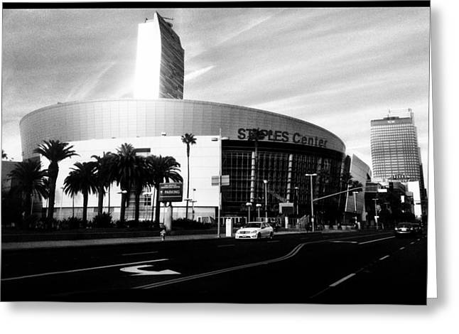 Staples Center Greeting Cards - Staples Center Greeting Card by Panfilo Salva