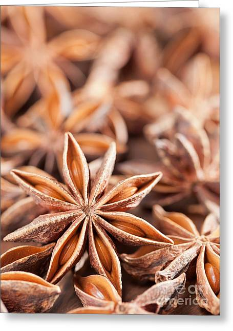 Flavorings Greeting Cards - Star anise Greeting Card by Shawn Hempel