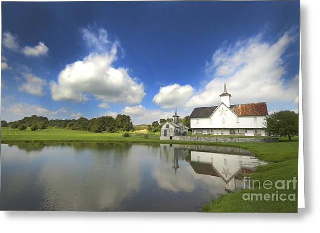 Star Barn Greeting Cards - Star Barn and Pond Greeting Card by Paul W Faust -  Impressions of Light