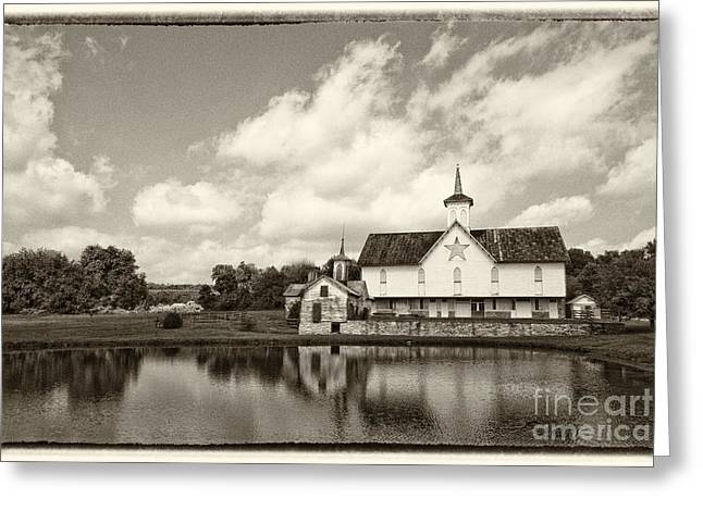 Pa Barns Greeting Cards - Star Barn Antiqued Greeting Card by Paul W Faust -  Impressions of Light