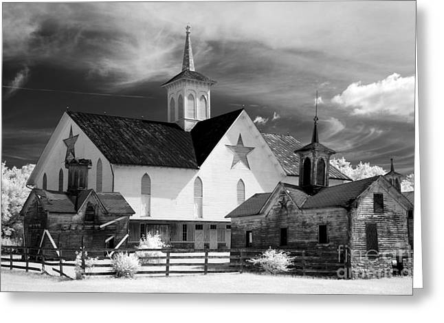 Star Barn Greeting Cards - Star Barn complex in Infrared Greeting Card by Paul W Faust -  Impressions of Light