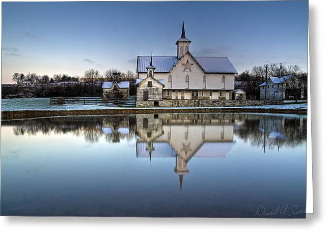 Star Barn Greeting Card by David Simons