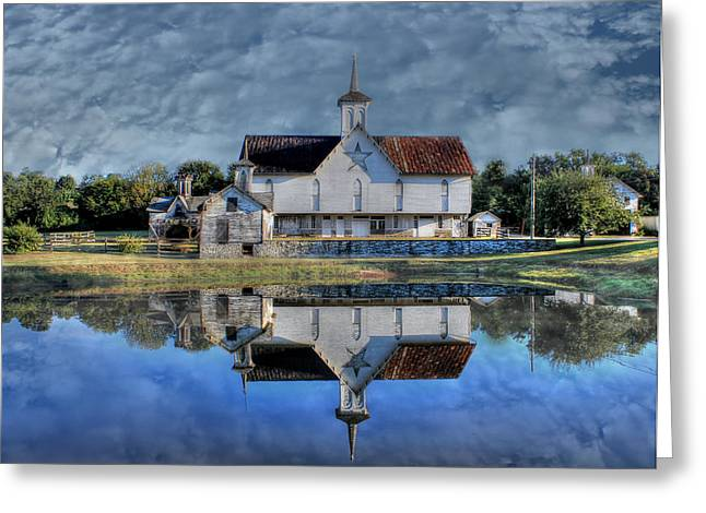 Star Barn Greeting Cards - Star Barn Greeting Card by Sharon Batdorf