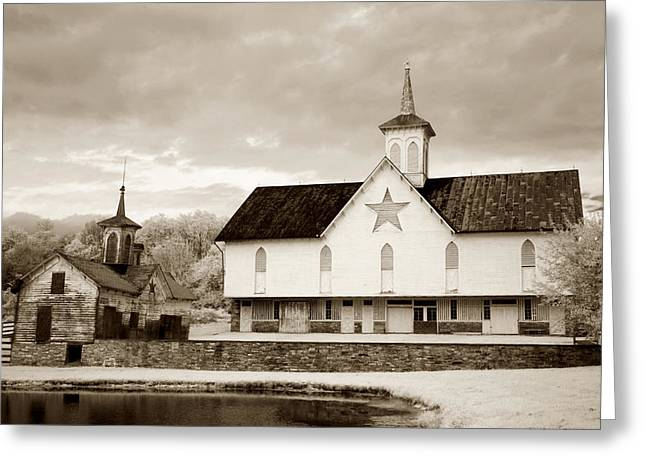 Pa Barns Greeting Cards - Star Barn Toned Greeting Card by Paul W Faust -  Impressions of Light