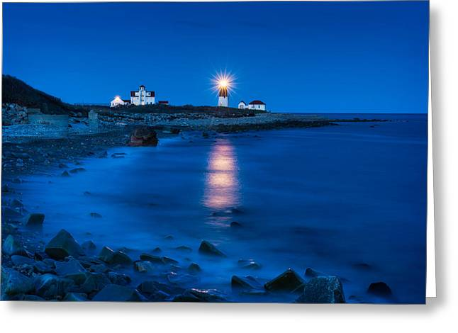 New England Lighthouse Greeting Cards - Star Beacon Greeting Card by Michael Blanchette