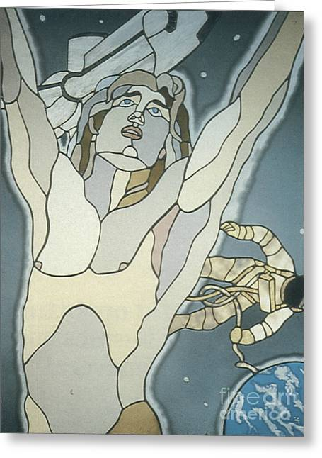 Science Fiction Art Glass Art Greeting Cards - Star-Born Greeting Card by John Emery