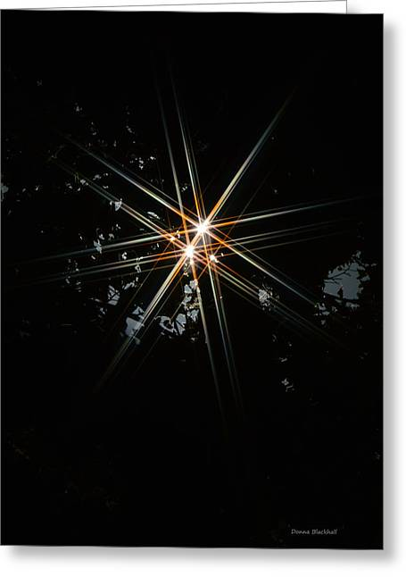 Star Bright Greeting Card by Donna Blackhall