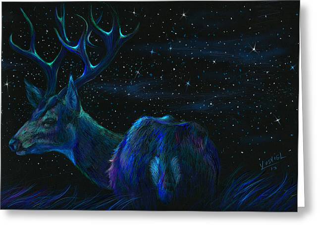 National Park Mixed Media Greeting Cards - Star Bucks  Greeting Card by Yusniel Santos