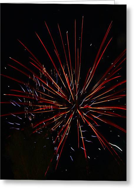 Fire Works Greeting Cards - Star Burst Firework Greeting Card by Angie Wingerd