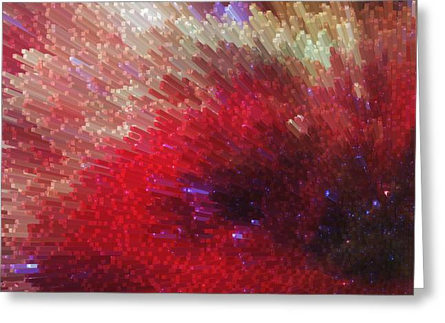 Star Burst - Red Abstract Art By Sharon Cummings Greeting Card by Sharon Cummings