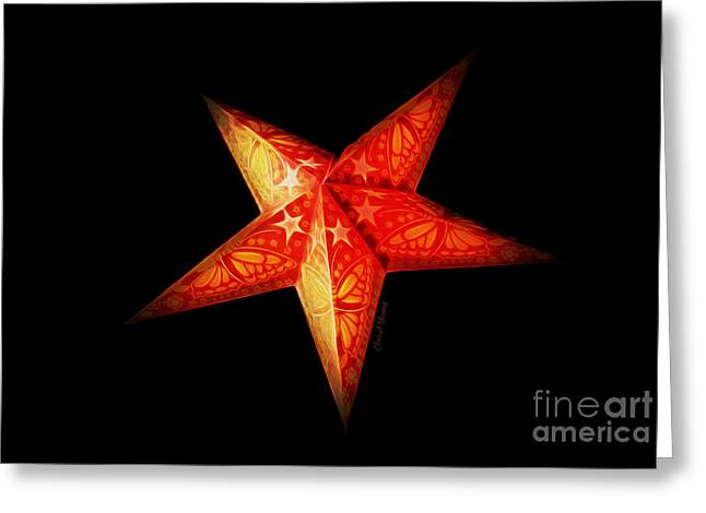 Shinning Greeting Cards - Star Greeting Card by Cheryl Young