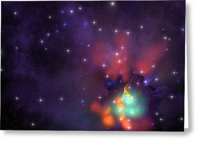 Interstellar Space Digital Greeting Cards - Star Cluster Greeting Card by Corey Ford