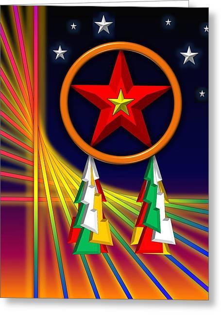 Christmas Greeting Greeting Cards - Star Greeting Card by Cyril Maza