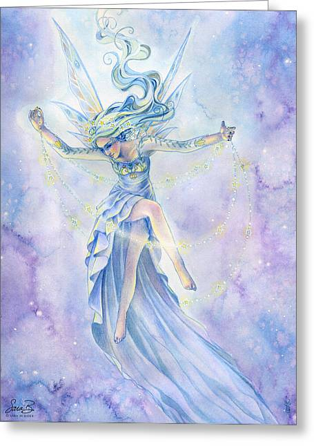 Fairies Greeting Cards - Star Dancer Greeting Card by Sara Burrier