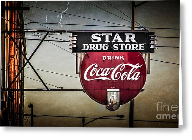 Star Drug Store 2 Greeting Card by Perry Webster