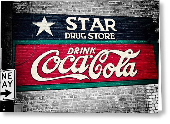 Star Drug Store Greeting Cards - Star Drug Store Wall Sign Greeting Card by Scott Pellegrin