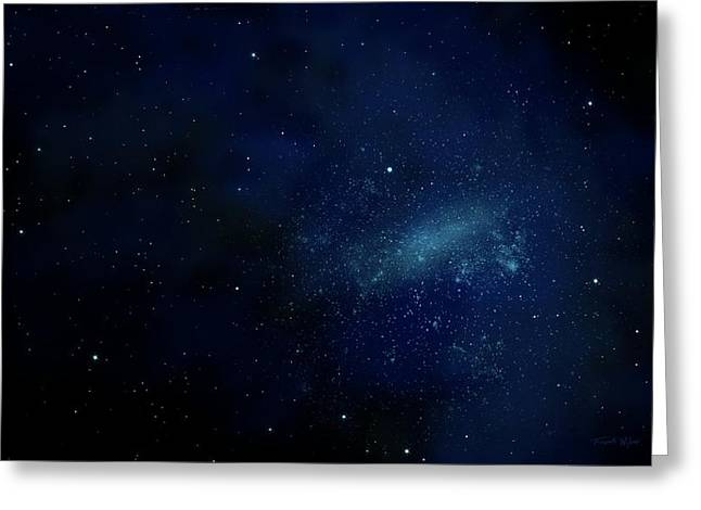 Glow Murals Greeting Cards - Star Field Mural Greeting Card by Frank Wilson