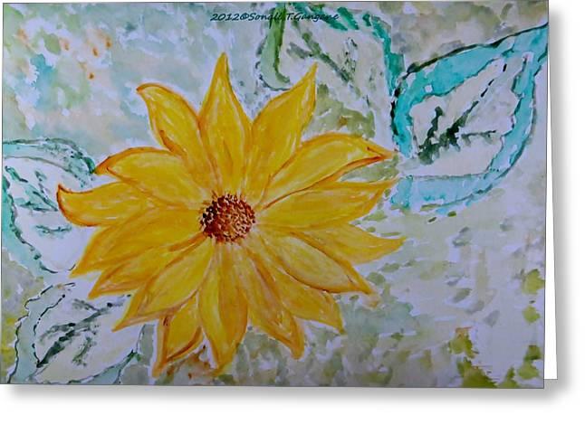 Star Flower Greeting Card by Sonali Gangane