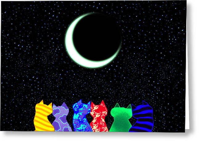Happy Drawings Greeting Cards - Star Gazers Greeting Card by Nick Gustafson