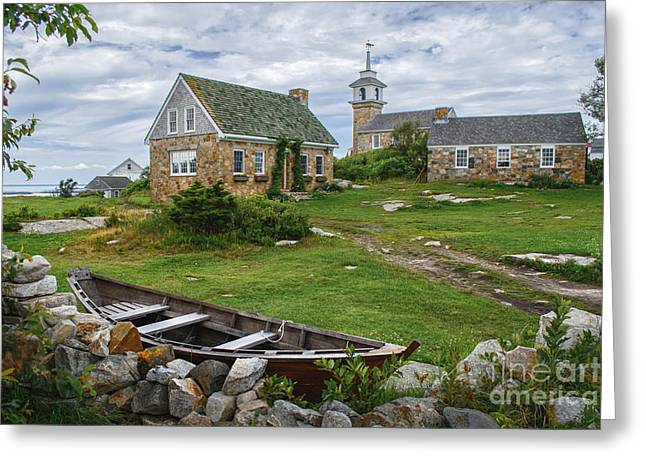 New England Village Photographs Greeting Cards - Star Island Dory Greeting Card by Scott Thorp