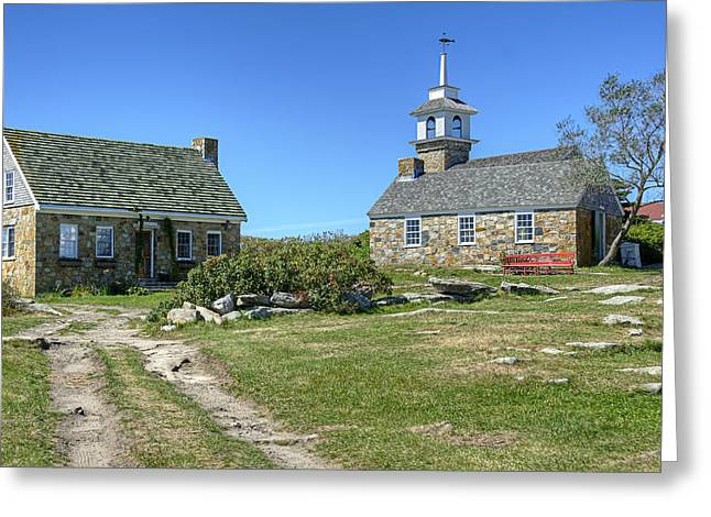 Rural Maine Roads Photographs Greeting Cards - Star Island Village Greeting Card by Donna Doherty