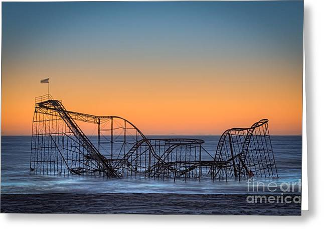 Star Jet Roller Coaster Ride  Greeting Card by Michael Ver Sprill