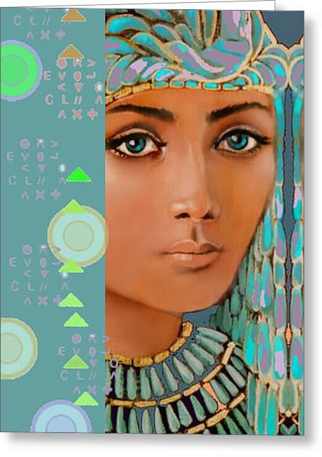 Atlantis Mixed Media Greeting Cards - Star Lady  Atlantis Series Greeting Card by Jean Marie Bowcott