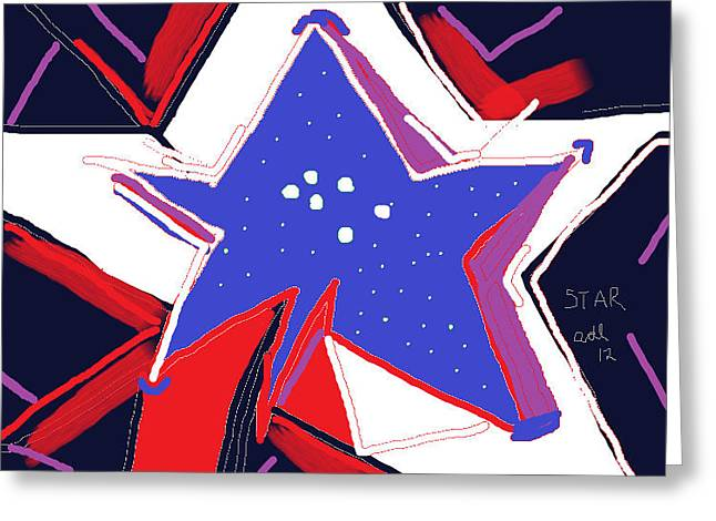 Night Lamp Drawings Greeting Cards - Star Lamp Greeting Card by Anita Dale Livaditis