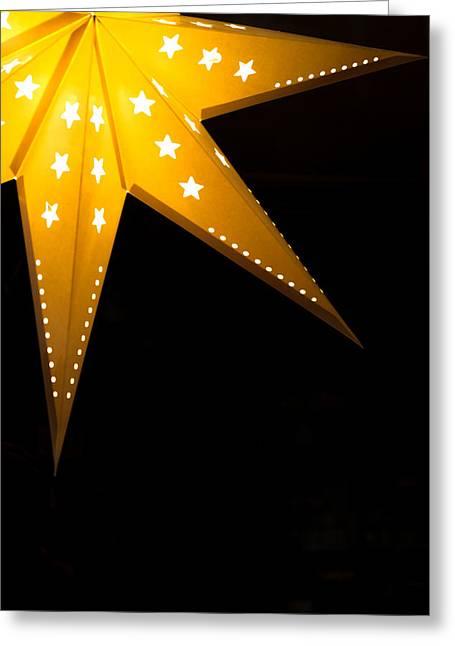 Night Lamp Greeting Cards - Star Lantern Greeting Card by Chay Bewley