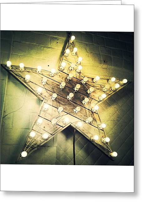 Times Square Digital Art Greeting Cards - Star Light Bright Greeting Card by Natasha Marco