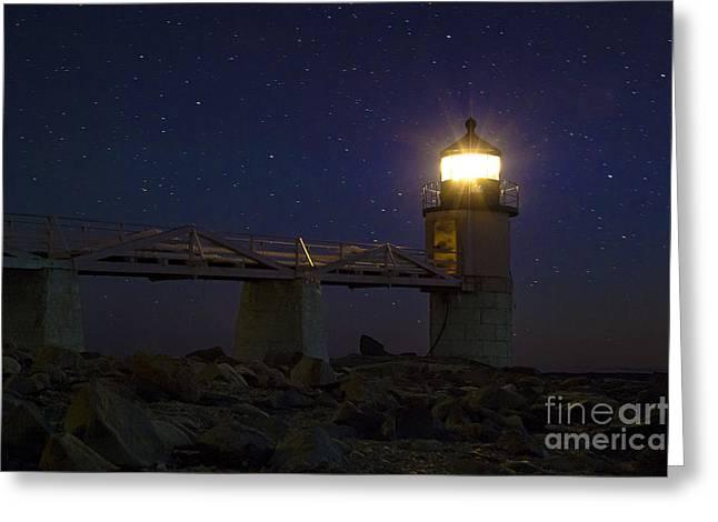 Coastal Maine Greeting Cards - Star Light Greeting Card by John Greim