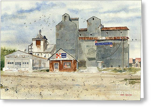 Bringing Greeting Cards - Star Mill Greeting Card by Monte Toon