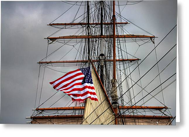 Star of India Stars and Stripes Greeting Card by Peter Tellone