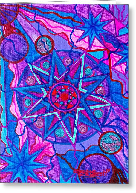 Frequency Products Greeting Cards - Star of Joy Greeting Card by Teal Eye  Print Store