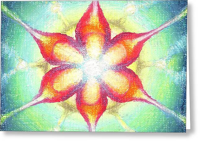 Lightning Pastels Greeting Cards - Star of Metatron Greeting Card by Michelle Bien