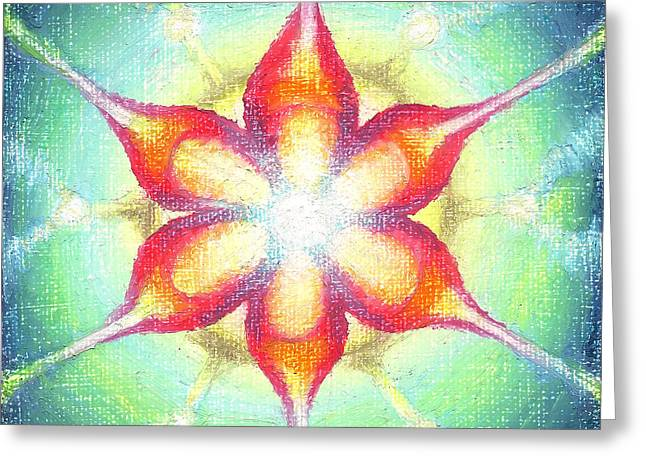 Illuminate Pastels Greeting Cards - Star of Metatron Greeting Card by Michelle Bien