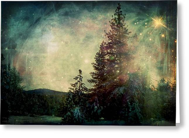 Winter Solstice Framed Prints Greeting Cards - Star of Solstice Greeting Card by Leah Moore